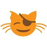 Cute Cat Pirate kawaii face