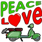 Peace Love Motor Scooter