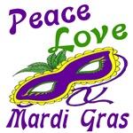 Peace Love Mardi Gras