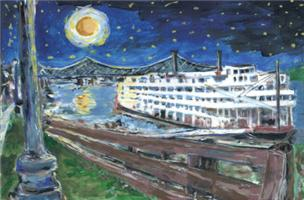 Starry Night Riverboat