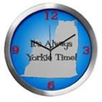 YORKIE TIME Wall Clocks