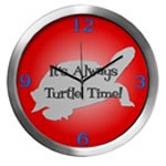 TURTLE TIME Wall Clocks