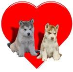 Puppies Valentine heart