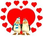 Toon Penguin Valentine