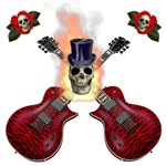 TopHat Flaming Skull Rock n' Roll
