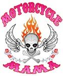 MotorCycle Mama' Winged Skull