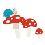 Snail and Toadstool