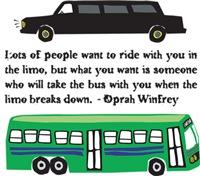 Limo Bus Oprah
