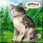Kitty Tries Zen Fishing