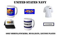US Navy Mugs, Steins, Stickers, License Plates