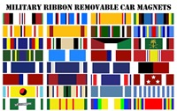 Military Ribbon Car Magnets