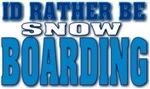 Snowboarding blue