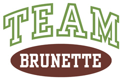 TEAM BRUNETTE t-shirts