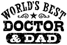 World's Best Doctor and Dad t-shirts