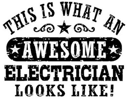 Awesome Electrician t-shirts