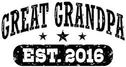 Great Grandpa Est. 2016 t-shirt