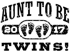 Aunt To Be Twins 2017 t-shirts