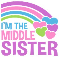 'm The Middle Sister t-shirt