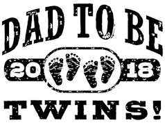 Dad To Be Twins 2018 t-shirts