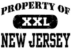 Property of New Jersey t-shirts