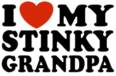I Love My Stinky Grandpa t-shirt