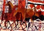 Four Horses Collage