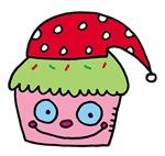 Cupcake santa hat