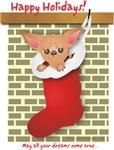 Chihuahua Christmas Stocking