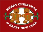 Merry Christmas Gingerbread Couple