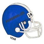 Personalized  Blue Football Helmet