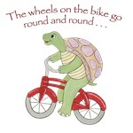 Turtle on Bicycle  - The wheels on the bike...