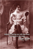 Oscar Wilde on Marriage: Vintage Erotica Quote