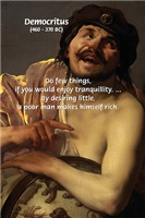 Greek Philosophy: Democritus on Tranquillity