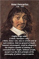Rene Descartes: I Think therefore I Am