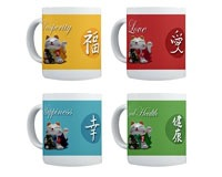 Japanese Fortune Cats Mugs