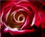 Deep Pink Fractal Rose