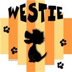 Westie Yellow/Orange Stripe