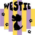 Westie Yellow/Purple Stripe
