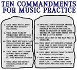 Commandments for Practice
