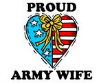 Proud Army Wife Heart