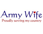 Army Wife Proudly Serving Items