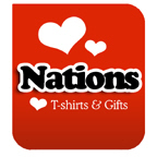 I Love Country and Nations T-shirts