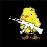 Vintage Gun Chick White