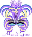 Mardi Gras Face Mask