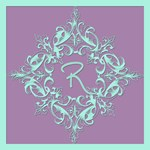 Soft Violet and Pale Aqua Monogram Tote