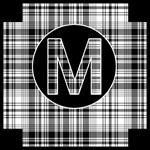 Monogram Tote in Black/White Plaid