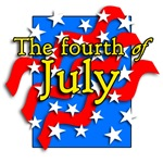 Patriotic Stars and Bars 4th of July Design!