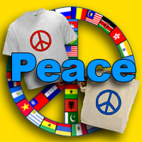 Peace Signs and Symbols on Hoodies, Tees, Buttons