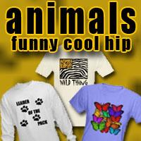 Animal T-shirts! Fun Dog, Cat and Bird Products
