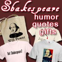 The Bard William Shakespeare Products